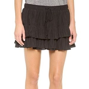 Elizabeth and James Tiered Ruffle Mini Skirt